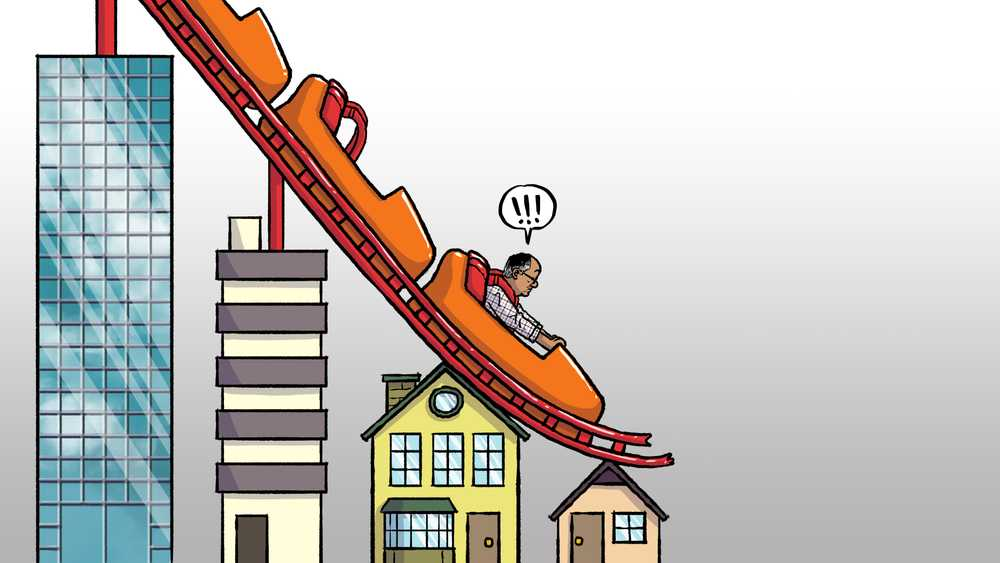 India's real estate - rollercaster artwork