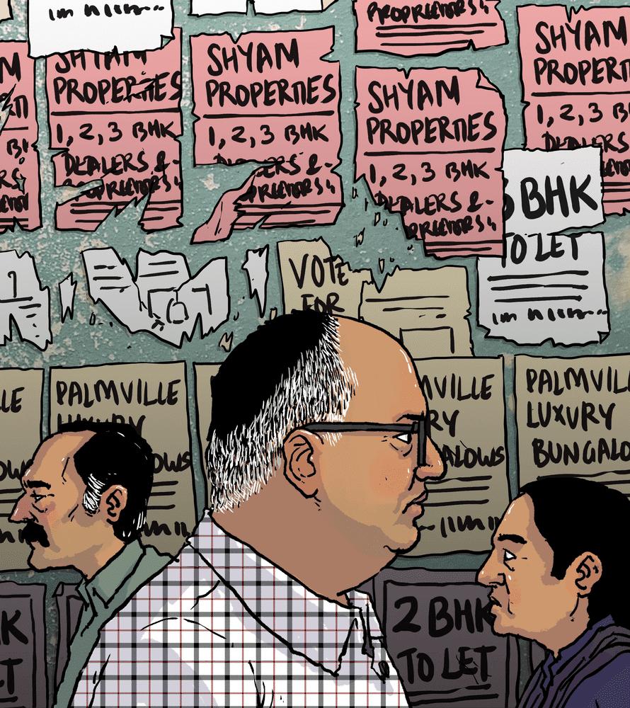 India's real estate hero artwork